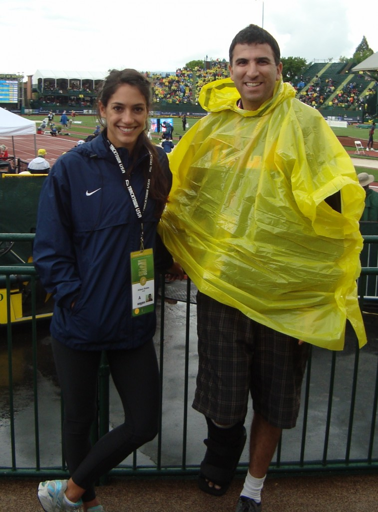 with Allison Stokke at the 2012 Olympic Track Trials