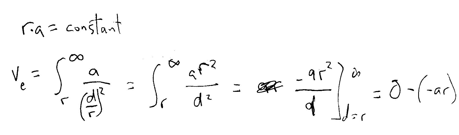 radius accel integral